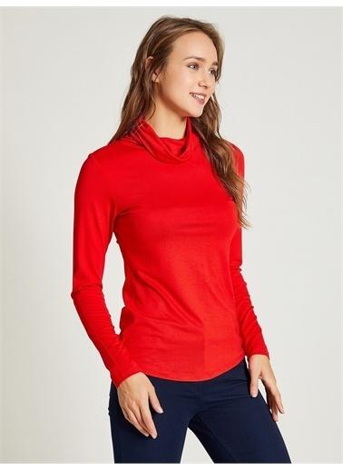 Vekem-Limited Edition Balıkçı Yaka Uzun Kol Bluz Kırmızı